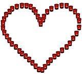 Lichterbecher 1x Herz rot Hochzeit Illuminationsbecher Teelicht Teelichthalter Herzform Basteln Tischdeko