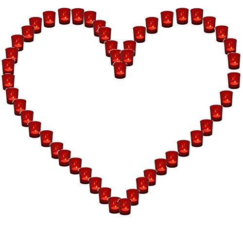 Lichterbecher 1x Herz rot Hochzeit Illuminationsbecher Teelicht Teelichthalter Herzform Basteln...