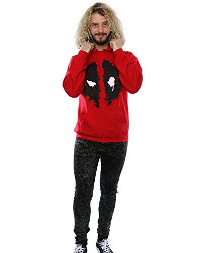 Marvel Herren Deadpool Splat Face Kapuzenpullover Kirschrot