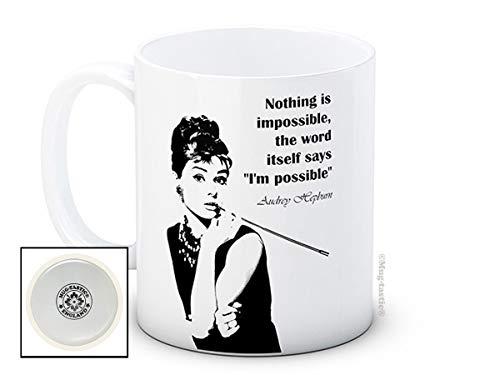 Audrey Hepburn - Nothing is Impossible - Haute qualité tasse de café en céramique