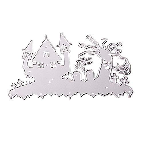 chablone, Sulifo Prägeschablonen Stanzformen Scrapbooking Schablonen, für Sizzix Big Shot/Cuttlebug/und andere Embossing Machine anwenden (K) ()