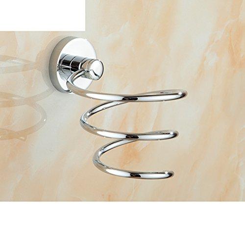 Porte-Sèche-Cheveux,Porte-séchoir,ventilateur Mur salle de bain Tambour sécheur de cheveux Porte de salle de bain Support de rangement mural-A