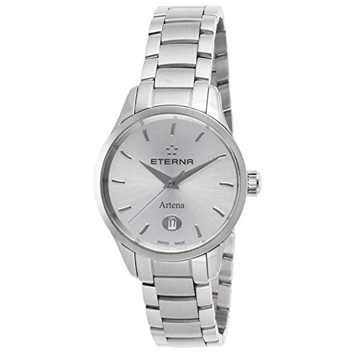 Eterna Women's Steel Bracelet & Case S. Sapphire Quartz Watch 2530-41-10-0286