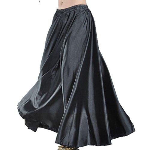 MUNAFIE Damen Teller Rock Gr. One Size, schwarz Beaded Fringe Skirt