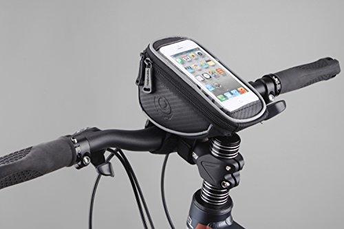 Fahrradtasche für Smartphones mit PVC-Bildschirm Fahrrad-Lenker-Tasche & Handyhalterung & wasserabweisend & Handytasche & Rennrad / Mountainbike / Cyclecross / Cross-Rad / Fahrrad-Navi-gation