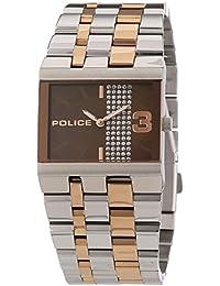 Police GLAMOUR SQUARE - Reloj de cuarzo para mujer, correa de acero inoxidable multicolor