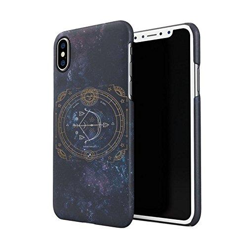 Zodiac Aries Sign Custodia Posteriore Sottile In Plastica Rigida Cover Per iPhone X Slim Fit Hard Case Cover Sagittarius Sign
