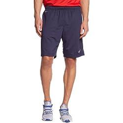 Nike Shorts Libero Knit Pantalón Corto, Hombre, Negro / Blanco (Obsidian / White), 2XL