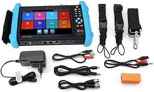 """Rosvola Testeur de caméra IPC à écran Tactile IP de 7"""", Testeurs de vidéosurveillance de sécurité, Moniteur CCTV CVBS, CA analogique avec TVI/AHD/CVI/WIFI/4K H.265(EU -IPC-9800ADHS Plus)"""