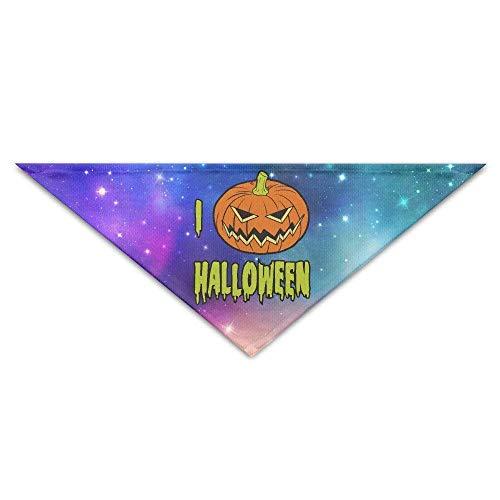 (Rghkjlp Ich Liebe Halloween-Baby-Haustier-Dreieck-Kopftücher-Hundeschalwelpen-Dreieck)