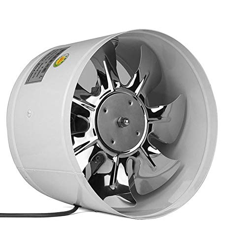Dxlta 4inch/6inch Inline Leitung Lüfter Booster Auspuff Gebläse Luft Kühler Ventil Metall Klingen Auspuff Lüfter - Weiß, 4 inch - Metall-luft-gebläse