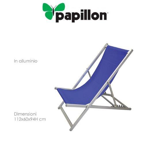 chaises en aluminium avec textile'ne tissu en bleu PLAYA