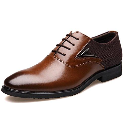 Scarpe uomo pelle, derby stringate basse oxford elegante sera vintage verniciata cuoio brogue moda nero marrone rosso 38-48 br43