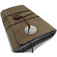 Protège livre fait main à personnaliser, couverture livre format poche/littéraire roman en tissu simili cuir avec/sans médaillon gravé, Cadeaux, anniversaire, Noël