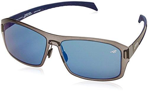Red Bull Racing Eyewear Unisex - Erwachsene Sonnenbrillen Sports-Tech, Gr. One Size, Shiny Transparent Smoke & Rubber Blue/Smoke With Blue Flash