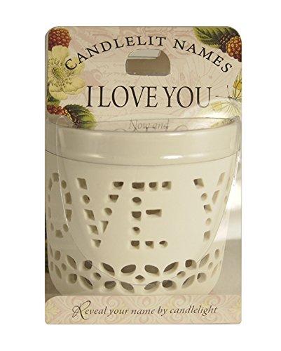 Bei Kerzenschein Namen 4.699.025,4cm I Love You Votiv Kerzen