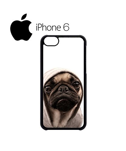 Pug Life Grumpy Dog Funny Swag Mobile Phone Case Back Cover Coque Housse Etui Noir Blanc pour iPhone 6 White Blanc