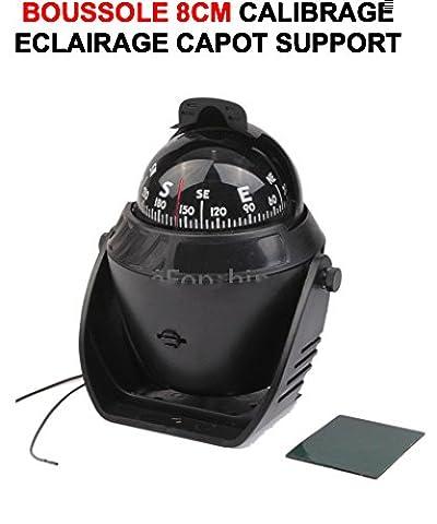 SUPERBE COMPAS BOUSSOLE 8 CM SUR PIED A ECLAIRAGE ET CALIBRAGE ! SPECIAL 4X4 AZIMUTAGE SANS INTERFERENCE AVEC LE MOTEUR ! COULEUR NOIRE ! 4X4 RAID TRIAL QUAD CROSS VHC RALLYE AUTO MOTO CAMION CAMPING-CAR SIRENE KLAXON OUTILLAGE ACCESSOIRES SCOOTER YOUNGTIMERS BATEAU MARINE LCM0817