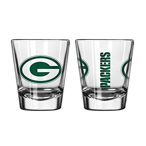 Offizielles Fan Shop authentische NFL Logo 2Oz Schnapsgläser 2er Pack Bundle. Show Team Stolz zu Hause, Ihre Bar oder an der Heckklappe, Gameday Shot Gläser für eine Goodnight, Green Bay Packers - Bay-cocktail