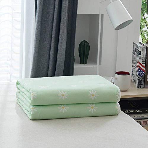 Telihome Gemütliche leichte Musselin-Baumwolldecke für Baby Erwachsene Decken für Bettcouch & Sofa Sommer Bettwäsche Bettdecke (Beige Schwarz Werfen Und Decke)