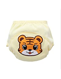 Meijunter Cute Baby Bebé Infant Cartoon Cloth Diapers pañales Reusable Washable Leakproof Nappy Pañal Diaper Tiger 80?weight 11KG?