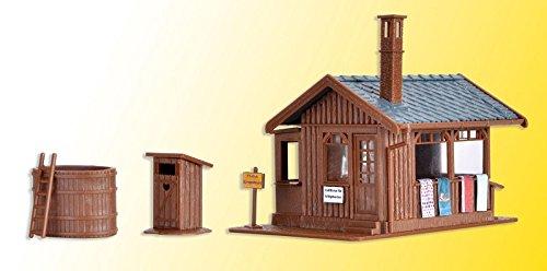 Vollmer 45146 H0 Sauna mit Inneneinrichtung und LED-Beleuchtung (Herz Modelleisenbahnen)