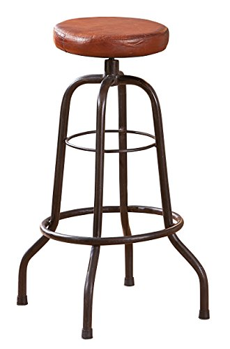 Links 85300330 Barhocker Bar-Stuhl Metallhocker Hocker Stuhl Bar Ledersitz Tresenstuhl schwarz