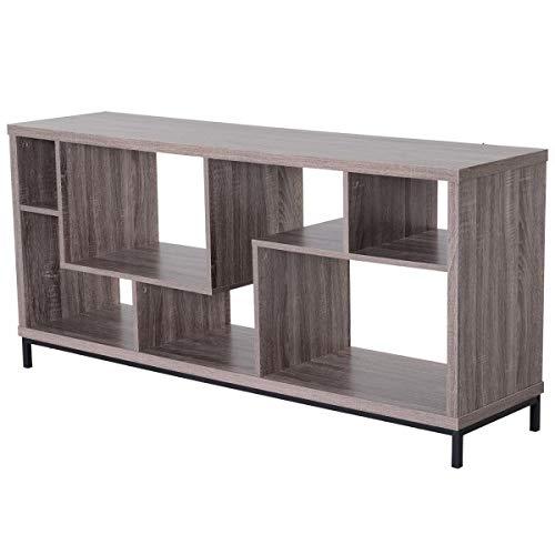 Diasdaisda Low Panel TV-Schrank Mit Großer Spanplatte Hellbraun 152,5 X 39,5 X 71 cm, Geeignet Für Zuhause, Wohnzimmer, Büro, Schlafzimmer Möbel