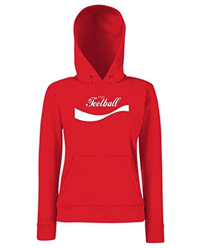T-Shirtshock - Sweats a capuche Femme ENJOY0055 Enjoy Football Rouge