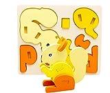 BRZM Giocattoli per Neonati e Bambini Bambini in Legno 3D Scoiattolo Puzzle Numero Creativo Forme precoce Giocattolo Giocattolo di apprendimento