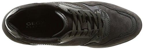 Geox Donna Regina A, Sneaker, Donna Grigio (Anthracite/Grey)