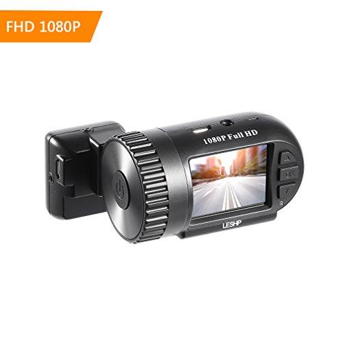 ahece Auto Cámara Dashcam Full HD 1080p 145° Gran Angular de portador de coche DVR Car Video Camera videocámara Recorder Visión Nocturna Detección de Movimiento 12M 1.5inch TFT LCD con GPS y sensor G