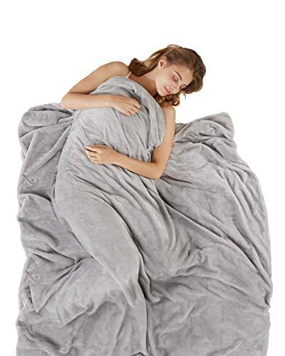 SCM Gewichtsdecke mit abnehmbaren Warm Fleece & Coolmax Bezüge Schwere Decken Weighted Blanket für Erwachsene 150x200cm, 9kg -
