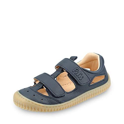 Filli Barefoot Filii Barefoot B19012-2 Jungen Sandale aus Bioglattleder Klett Luftzirkulation, Groesse 32, Marine
