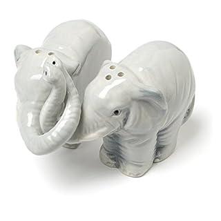 Abbott Collection Hugging Elephant Salt and Pepper Set
