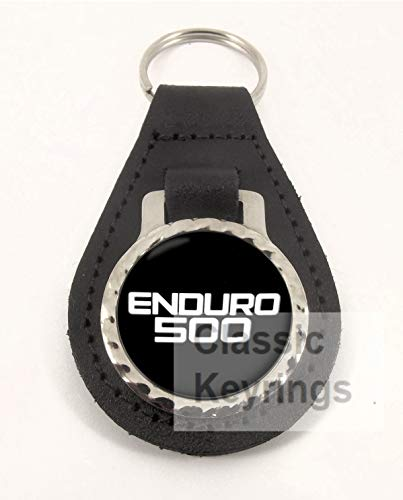 YAMAHA XT500 ENDURO motorrad keyring Schlüsselanhänger echtem leder