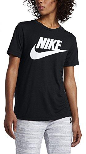 Nike Damen T-shirt 829747, schwarz (Schwarz / Schwarz / Weiß), S - Englisch-schwarz-t-shirt