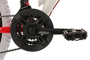 KS Cycling Mountainbike Fully Topeka Fahrrad, Weiß-Rot, 26