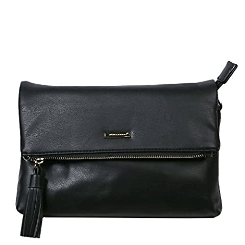 David Jones Pfingstrose Womens Messenger Tasche One Size Schwarz