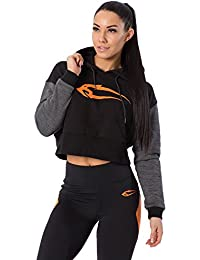 Smilodox Damen Cropped Hoodie Flawless