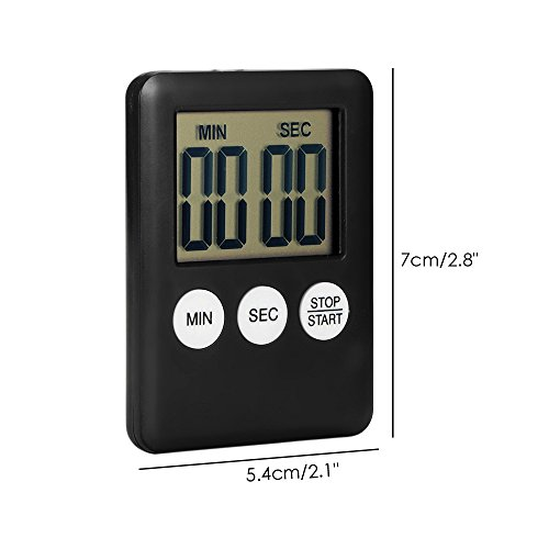 ONEVER Timer cucina, Fashion Simple Super Thin LCD Digital Screen ...