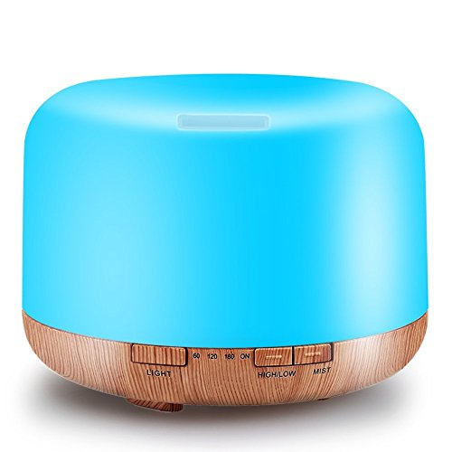LIYAN Holz Getreide aromatherapie Maschine ultraschall Mini duftlampe Hause aromatherapieofen ätherisches öl Lampe luftbefeuchter 500 ml 17 * 17 * 13,5 cm