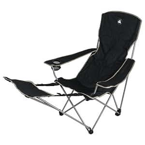 10T Quickfold Plus - Mobiler Camping-Stuhl mit Fußablage sehr handlich faltbar inkl. Tasche