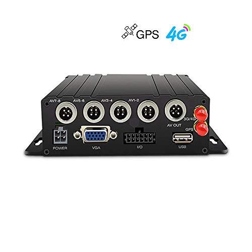 WeniChen 4-Kanal 720P 4G MDVR AHD SD-Karte Videorecorder (Unterstützung bis zu 128 GB) mit VGA-Anschluss für Bus-LKW-Anhänger Van Auto Fahrzeugüberwachung Home Office Warehouse Secure (Lkw-fahrer Gps)