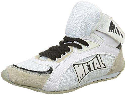 Metal Boxe Viper1- Botas altas de boxeo, Hombre, Viper1, blanco, Tal