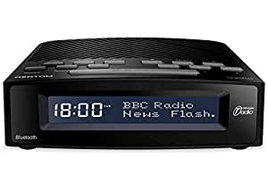 azatom horizon dab digital bedside fm radio alarm clock bluetooth battery mains powered. Black Bedroom Furniture Sets. Home Design Ideas