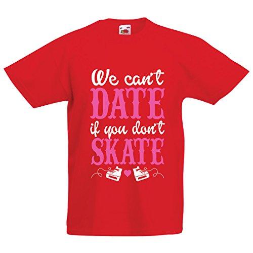 irt Kein Skate, Kein Datum - Coole Zitate Geschenk, Lustige Dating Zitate (12-13 Years Rot Mehrfarben) (Klassischen Halloween-bücher Für Kinder)