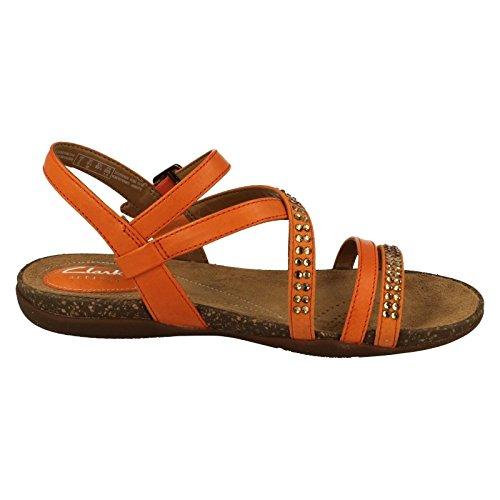 Clarks Autumn Peace 26123798 femmes Sandale Orange