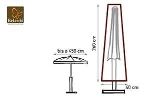 Belardo Wetterschutzhülle für Marktschirme bis Ø 450 cm