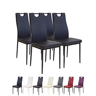 Albatros 2907 Salerno Esszimmerstühle, 4-er Set, schwarz